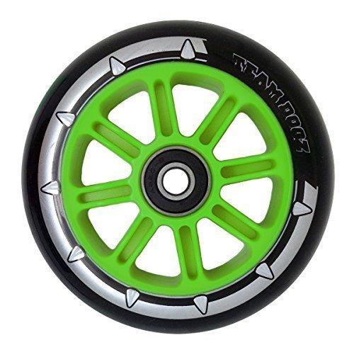 1 x Team Dogz Nylon-kern Roller Rad 100mm Mit ABEC 7 Lager Blau Grün Orange Pink - schwarz PU grün Core