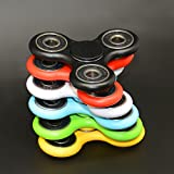 Toy - Ubitree Hand Spinner Fidget Tri Spinner EDC Focus Toy for Whole age section 9 colour (white)