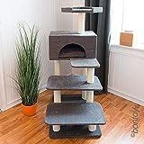 Bontoy Katzenkratzbaum Phill grau 130cm, besonders für ältere Katzen geeignet