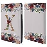 Head Case Designs Offizielle Nature Magick X Blumen Monogramm Blumig Gold 2 Brieftasche Handyhülle aus Leder für iPad Mini 1 / Mini 2 / Mini 3