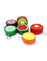 Shopaholic Mix Fruit Design Hangings Coin Pouch For Coins/Earphones/Multi Purpose-Set Of 2