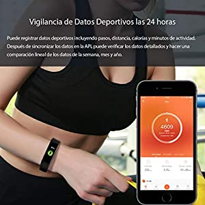 Activity Bracelet Waterproof Heart Rate Monitor IP67 Smart Bracelet with Heart Rate Monitor Activity Monitor Pedometer Calorie and Sleep Monitor Fitness Tracker Bluetooth Mobile Bracelet