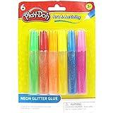 Play Doh Neon Glitter Glue, Multi Color