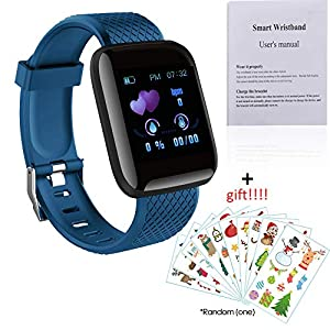 510fb8EVtpL. SS300 Explopur SmartWatch - IP67 Impermeabile Color Screen Touching Sports Fitness Orologio - 1,3 Pollici BT Smartwatch con…