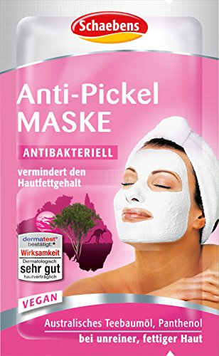 Schaebens Anti-Pickel Maske, 15er Pack (15 x 10 ml) (Tea Tree Peeling)