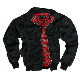 """Solide/blouson """"harrington"""" night camouflage russia veste avec doublure en coton épais motif tartan (taille m)"""