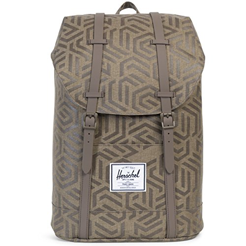 Herschel Retreat Sac à dos loisir, 43 cm, 19.5 liters, Marron (Kaki)