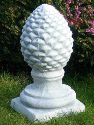 Unbekannt Dekofigur | Skulptur Sockel | Figur Pinienzapfen | Pinien Zapfen | H 40 cm | Dekoelement aus Beton | Deko Figur | Dekofigur | Gartenfigur | Gartendeko | Garten Deko | Gartenskulptur