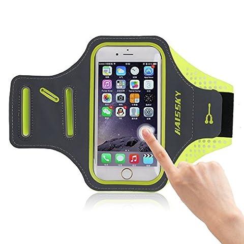 """Haissky Armband de Téléphone Brassard de Sport Anti-Sueur avec Porte-clés pour iPhone 6Plus/6s Plus ,Samsung Galaxy S7 edge Bande de bras-5.5"""""""