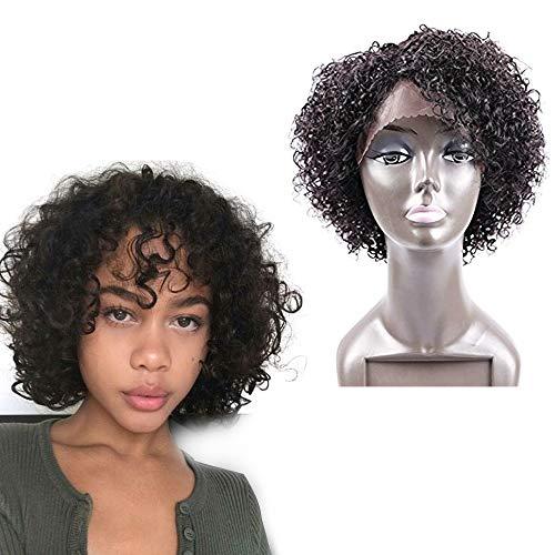 Perruques bouclés golden rule de couleur naturelle pour femme noire explosion de boucles avec une cheveux humain brésiliens