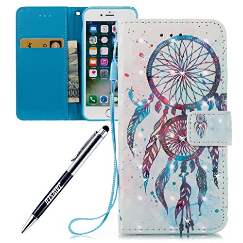 iPhone-7-47-Custodia-iPhone-7-Cover-JAWSEU-iPhone-7-Custodia-Pelle-Portafoglio-Diamante-Lusso-3D-Modello-Design-Creativo-PU-Leather-Wallet-Flip-Cover-Custodia-per-iPhone-7-Copertura-con-Morbida-Gel-Si
