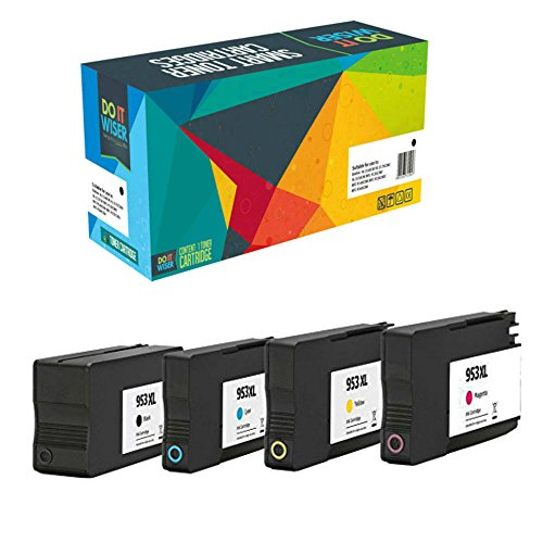 Do it Wiser 4 Cartuchos de Tinta HP 953XL Compatibles para HP OfficeJet Pro 8710 Ink 8715 8720 7720 7730 7740 8210 8218 8718 8719 8716 8725 8728 8730 8740 (4 Pack)