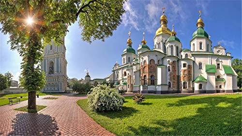 Malen Nach Zahlen Heiliges Sophia Cathedral Kiev-Denkmaltempel DIY Unique Gift Handpainted Oil Painting for Home Wall Decor Artworks Frameless