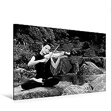 Premium Textil-Leinwand 120 cm x 80 cm quer, Calmando Monocromatico | Wandbild, Bild auf Keilrahmen, Fertigbild auf echter Leinwand, Leinwanddruck: Reisen: Musik als Meditation (CALVENDO Kunst)