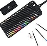 Lokss Coloured Pencils Set - 36 Pre-sharpened Pencils + Free Bonus Sharpener, Eraser