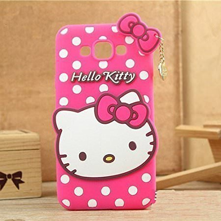 innovative design f2681 2b78a Qzey Girls Choice Hello Kitty Back Case Cover For Samsung Galaxy J7 Nxt  -Pink