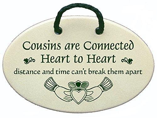 Mountain Meadows Pottery Cousins sind Herz Verbunden zu Herzen, Distanz und Zeit, Sie Can 't Keep Apart. Keramik Wand Vorlagen handgefertigt in den USA für über 30Jahren. - Mountain Pottery