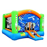 WJSW Hüpfburgen Kinderaufblasbares Schloss Kinderspielzeug Große Spielgeräte im Freien Rutschen für Kinder Trampolin für Kinder Farbiger Pool