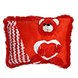 Ultra Red Teddy Soft Love Cushion Pillow...