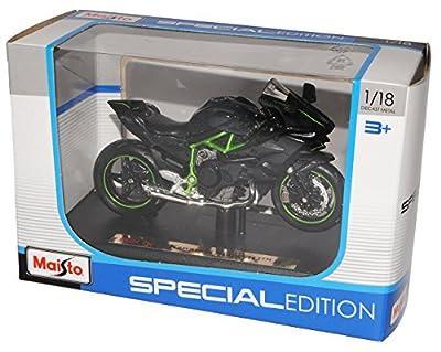 Kawasaki Ninja H2R Karbon Schwarz Ab 2014 Mit Sockel 1/18 Maisto Modell Motorrad mit oder ohne individiuellem Wunschkennzeichen von Maisto Kawasaki alles-meine.de GmbH