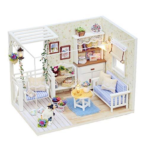 Miniatura DIY kit casa muñecas muebles bricolaje