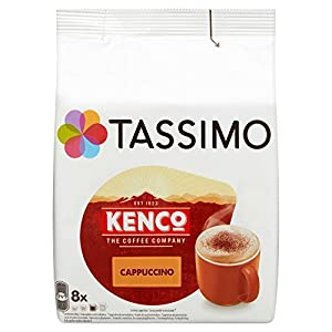 Tassimo Kenco Cappuccino Coffee Pods (Pack of 5, Total 80 pods, 40 servings)