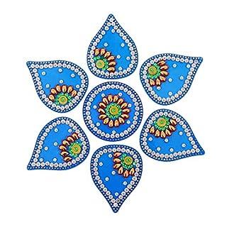 Amba Handwerk Rangoli/Home Decor/Diwali/Geschenk für Zuhause/Innenraum, handgefertigt, Bodenaufkleber/Wanddekoration/Bodendekoration/Neujahrsgeschenk/Party. Rangoli 3