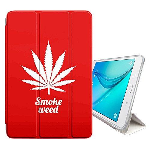 STPlus Marihuana Hanf Raucher (Rot) Smartcover Schutzhülle Schutz Hülle Case mit Standfunktion / Sleep / Wake up für Samsung Galaxy Tab S3 - 9.7