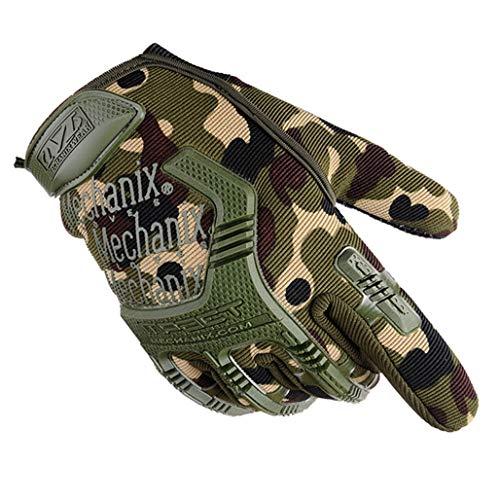 Männer Vollfinger Camouflage Handschuhe Atmungsaktive Schutz Nylon Paintball Schießen Fahrrad Motorrad Handschuhe