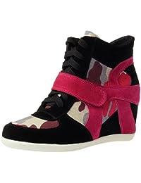 Generic Damen Keil Hakenschleife Arbeitsbereich Komfort Wildleder Mode Sneaker Schuhe