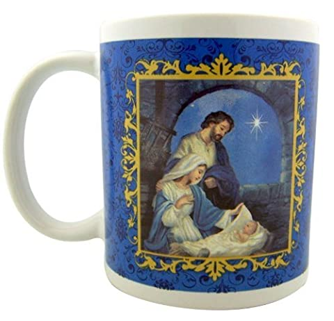 Holy Family Nativity Prayer 10oz Ceramic Hot Cold Drink Cup Christmas Advent Mug