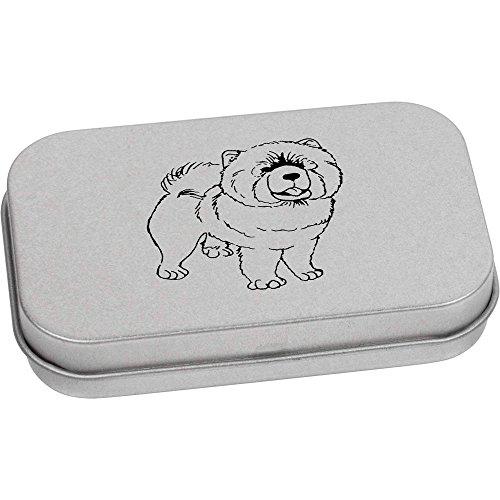 Essen Hund Hund Chow-chow (80mm x 50mm 'Chow Chow Hund' Blechdose / Aufbewahrungsbox (TT00070220))