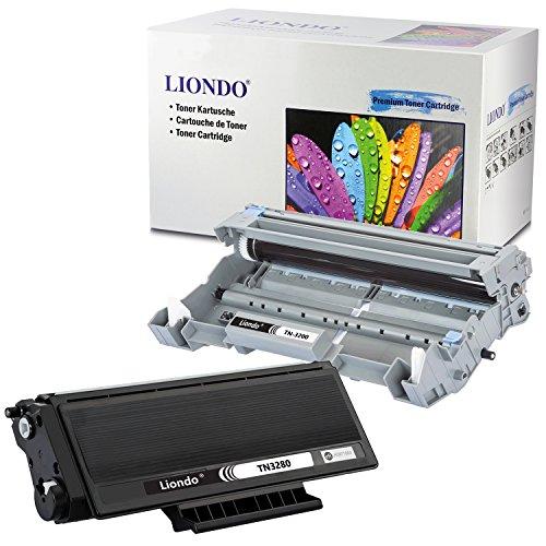 Liondo® 1x Tonerpatrone für TN-3280 und 1x Trommeleinheit / Drum DR-3200 kompatibel zu Brother HL-5340 D / HL-5350 DN / DNLT, HL-5370DW, HL-5380DN, Brother DCP-8070D / 8085DN, Brother MFC-8370N / DN, MFC-8380DN, MFC-8880DN, MFC-8890DW - Kapazität bis zu 25.000 Seitenleistung DR3200 und 8.000 Seitenleistung TN3280 Schwarz (BK)