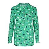 ESAILQ Damen Sommer T-Shirt Casual Streifen Patchwork Kurzarm Oberteil Tops Bluse Shirt(XXXXL,Grün)