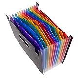12-layer tasca di alta qualità color Organo bag Student Paper clip cartella cabinet Organo clip A4Paper PP file, out of the Rainbow frizione