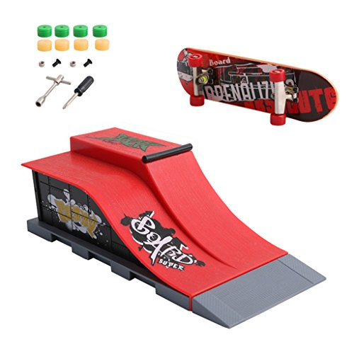 JAGENIE Skate Park ramp Parts for Tech Deck Fingerboard Finger Board Ultimate Parks New Reference Description E