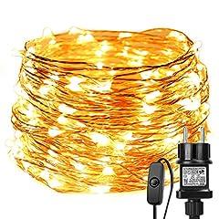 Idea Regalo - LE Catena Luminosa 20m 200 LED, Luce Stringa Luminosa Filo in Rame Impermeabile IP65 Bianco Caldo 3000K per Decorazioni Feste Alberi di Natale San Valentino