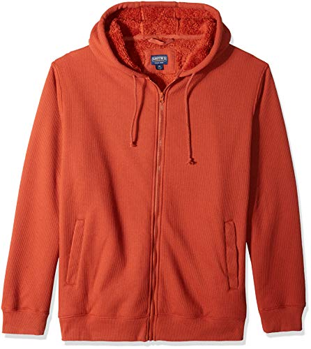 Smith's Workwear Herren Long-Tail Thermal Knit Pullover with Gusset Henley Shirt, Rust, Groß -