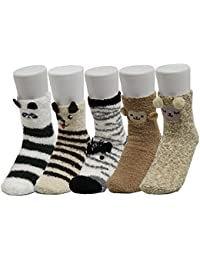 Z-Chen 5 Paar Damen Wintersocken Stoppersocken