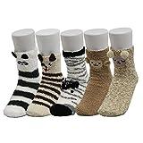 Z-Chen, Calze Corti a Pantofola Inverno, Donna, 5 Paia, Set 2