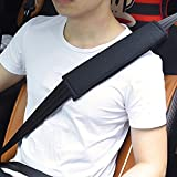 #9: Tradico® Car Seat Belt Covers Seat Belt Pads Strap Shoulder Pad Black Chemical Fiber Felt One Piece