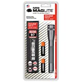 Maglite SP2209H Mini Maglite 2AA Multimode LED Torch 17 cm with Max. 31 Hours Battery Life Incl. 2 AA Batteries and Nylon Holster Titanium-Grey