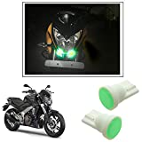 #5: Vheelocityin Car / Bike Ceramic Button Shape Green LED Parking Bulbs (set of 2) For Dominar