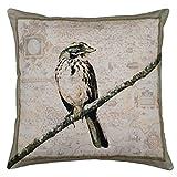 Shibori Fine designer Cushions-Vintage Bird Printed Cushion Cover best price on Amazon @ Rs. 67