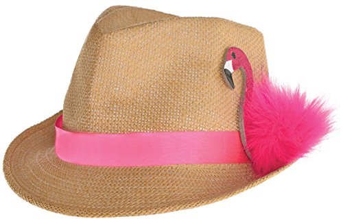 Amscan 3900056 Filzhut - Flamingo Kostüm Hut