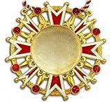 Karnevalsorden - Ehrenstern mit Schmucksteinen, rot-weiß-gold