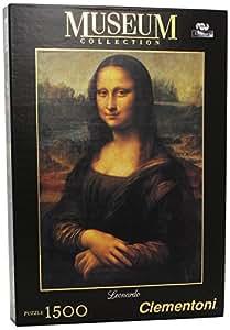 Clementoni 31974 - Puzzle Museum Collection Leonardo - Gioconda, 1500 Pezzi