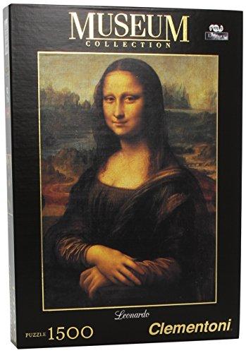 Clementoni Puzzle de 1500 piezas, Great Museum, diseño Leonardo: La Gioconda (319749)