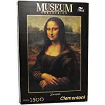 Clementoni - Puzzle de 1500 piezas, Great Museum, diseño Leonardo: La Gioconda (319749)