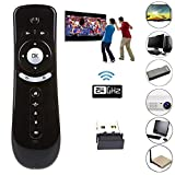 2,4 GHz Mini Fly Air Mouse T2 Fernbedienung, kabellose Tastaturmaus, 3D Gyro Motion Stick für PC Android TV Box Google TV